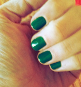 OPI Jade is the New Black hand